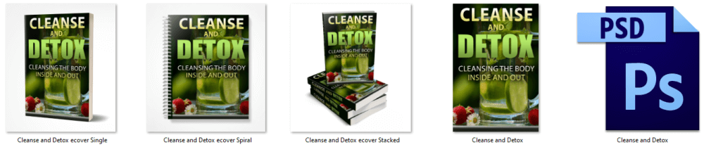 Cleanse-and-Detox-PLR-eBook Cover Graphics