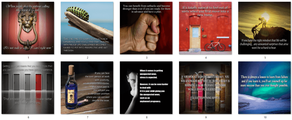 Dealing with Difficult Times PLR Social Posters
