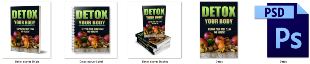 Body Detox PLR eBook Cover Graphics