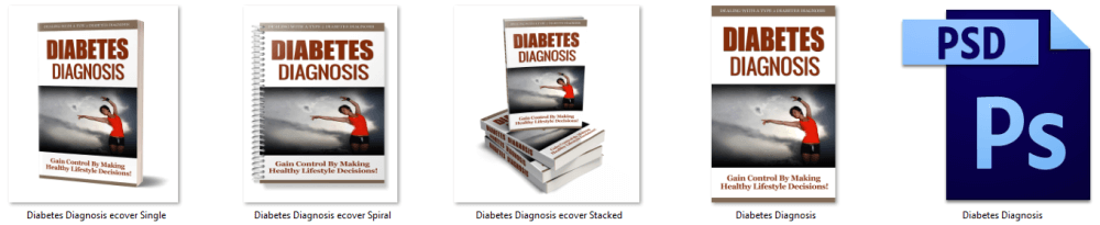 Diabetes Diagnosis & Control PLR eBook Cover Graphics