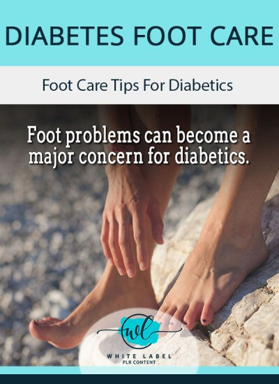 Diabetes Foot Care PLR Articles pack