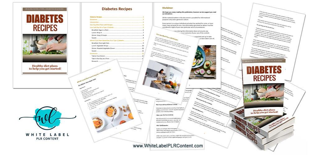 Diabetes Recipes PLR Package