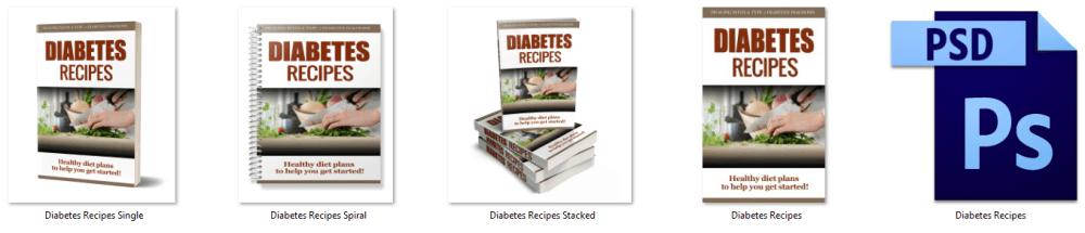 Diabetes Recipes PLR Report eCover Graphics