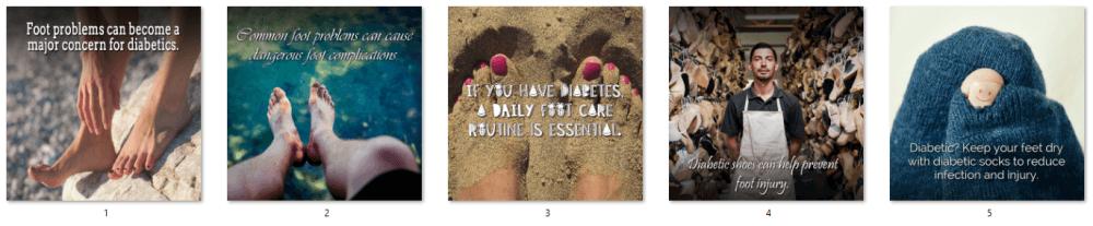Diabetes Footcare PLR Social Posters