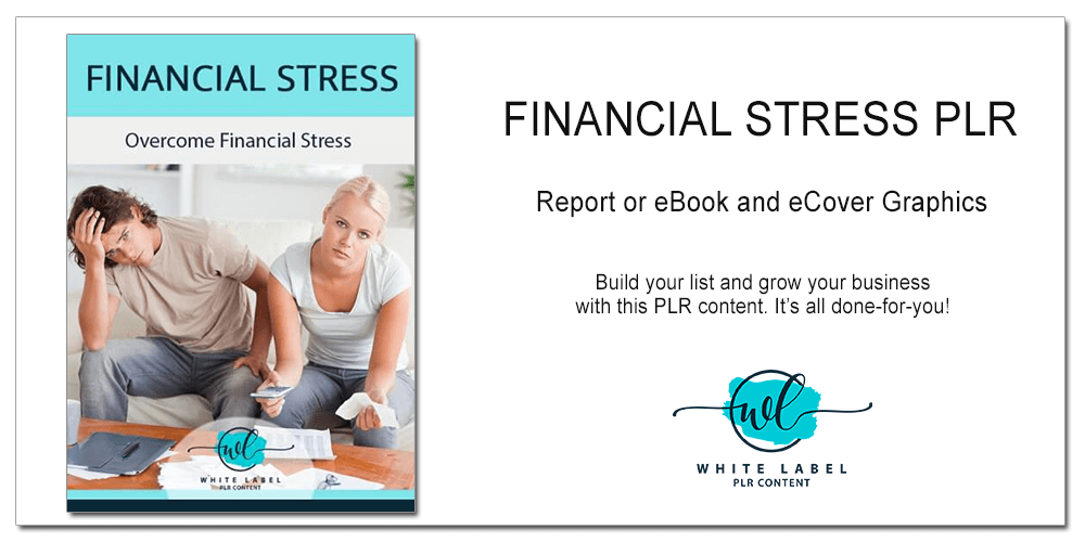 Financial Stress PLR - Report or eBook, eCover Graphics