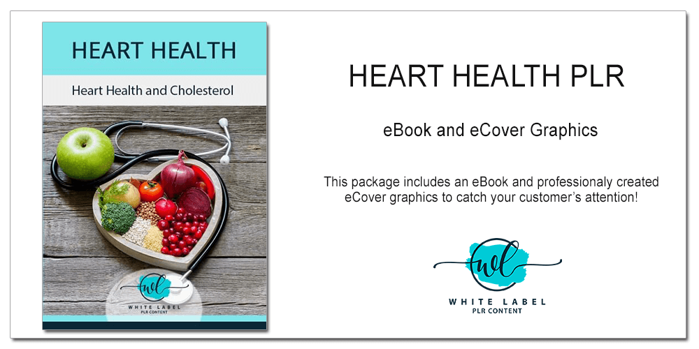 Heart Health & Cholesterol PLR - eBook, Graphics