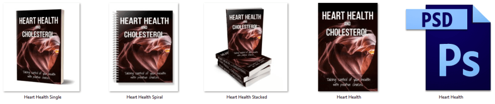 Heart Health and Cholesterol PLR eBook Cover Graphics