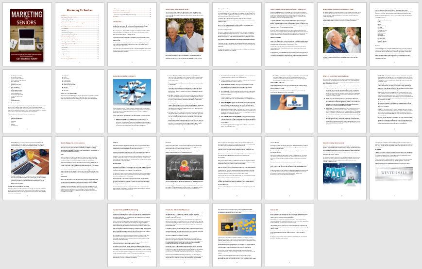 Marketing To Seniors PLR eBook Content