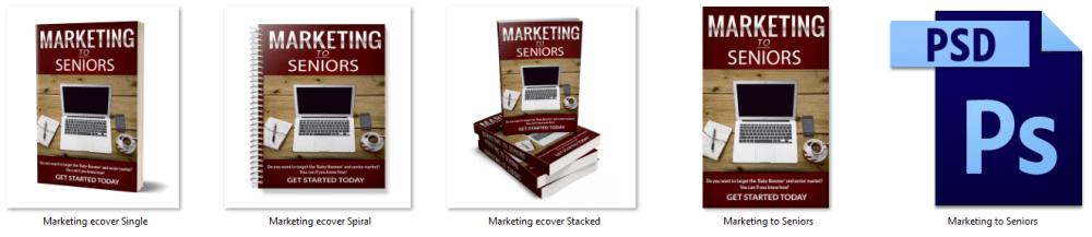 Marketing To Seniors PLR eBook Cover Graphics
