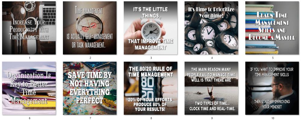 Time Management PLR Social Posters