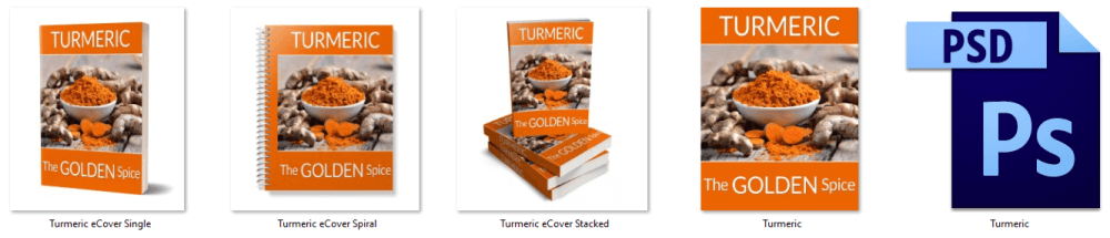 Turmeric PLR Report eCover Graphics