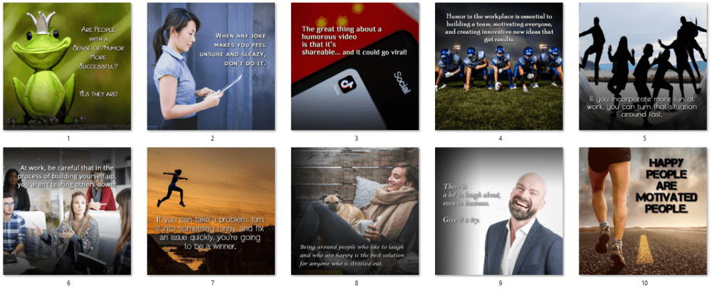 Using Humor Effectively PLR Social Posters